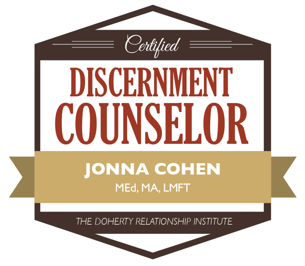Discernment Counselor Jonna Cohen